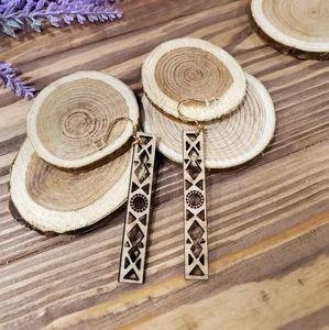 Larkspur Handcrafted Wooden Earrings